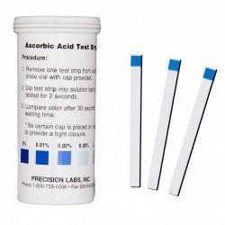 Tiras reactivas ácido ascórbico 0-0'01-0'02-0'05-0'1. Tubo 50 unidades
