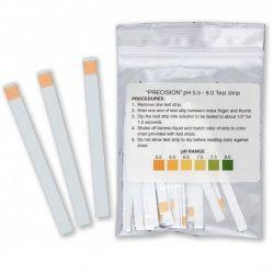 Tiras indicadoras plástico pH 5'5-8 (0'5 pH) PH-0060-1. Bolsa 50 unidades