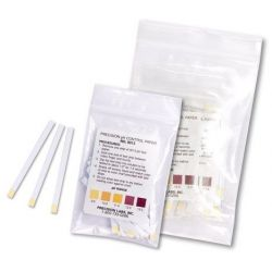 Tiras indicadoras plástico pH 9-13 (0'5 pH) PH-9013-1. Bolsa 50 unidades
