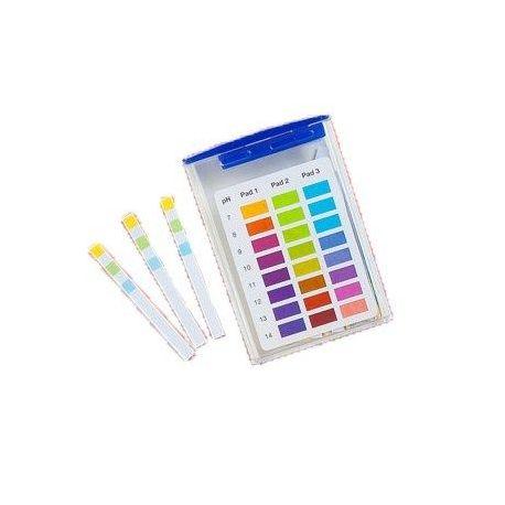 Tiras indicadoras plástico pH 7-14 (0'5 pH) PH-0714-3. Caja 100 unidades