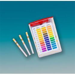 Tiras indicadoras plástico pH 4'5-10 (0'5 pH) PH-4510-3. Caja 100 unidades