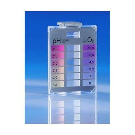 Prueba química Lovibond FTK-120. Oxígeno 0-10 ppm y pH 6'8-8'2. Caja 20 tests