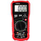 Multímetro digital Hibok-62. VCA-VCC-ACA-ACC-OHM-HFE
