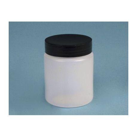 Bote plástico PEHD con tapa rosca y obturador. Capacidad 60 ml