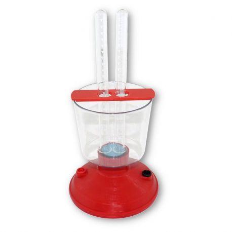Suport tubs electrolitzador DA-102020. Tubs 2x19 mm