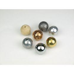 Boles llises 7 materials 25 mm amb forat V-11435. Joc 7 peces