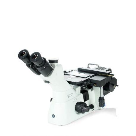 Microscopio metalográfico Oxion OX-2653-PLM. Triocular 50x-500x