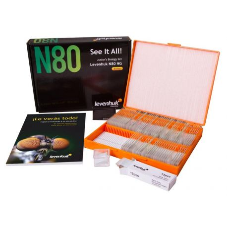 Preparaciones microscópicas N80-NG. Set completo 80 preparaciones