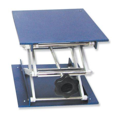 Soporte elevador aluminio 50 a 270 mm. Plataforma 150x150 mm