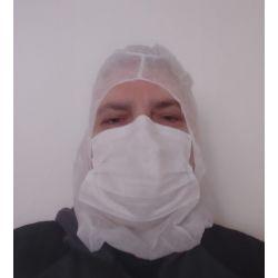 Gorro alto riesgo con macarilla TST. Triple capa