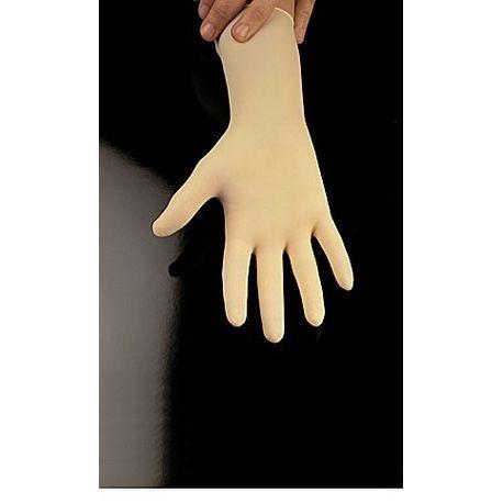 Guants examen làtex amb pols talla 7-8 mitjans. Capsa 100 unitats
