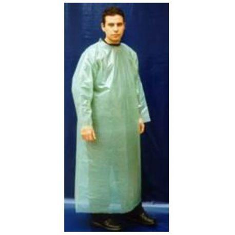Batas cerradas plástico polietileno (PE) verde 0'95 g/cm. Pack 20 unidades