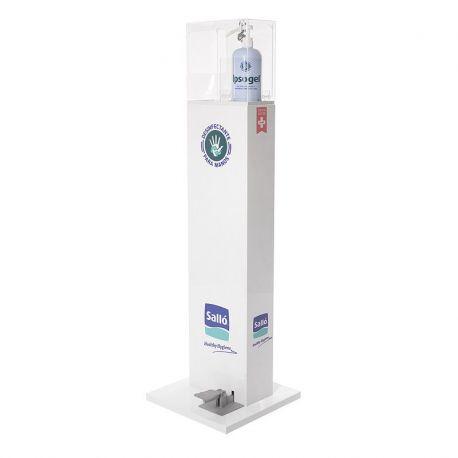 Dispensador columna metacrilat PVL Ipsogel. Dosificador pedal 1000 ml