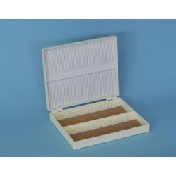 Caja guardar portaobjetos plástico BPG-011. Capacidad 100 piezas