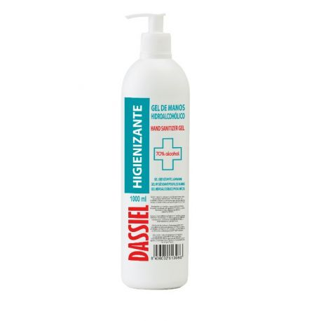 Gel manos hidroalcohólico higienizante Dassiel. Dosificador 1000 ml