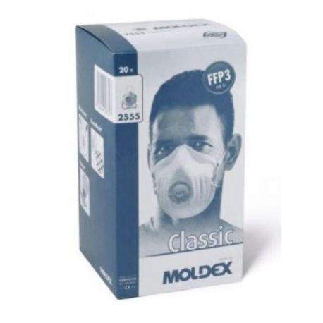 Mascarillas autofiltrantes FFP3 con válvula Moldex 2555. Caja 20 unidades