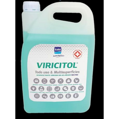 Desinfectante superfícies viricida Viricitol. Caja 4x5000 ml