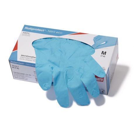 Guants examen nitril blau alta protecció talla XL (9-10). Capsa 90 unitats