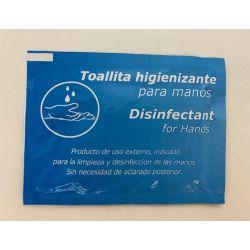 Tovalloletes hidroalcohòliques higienitzants per mans. Capsa 500 unitats
