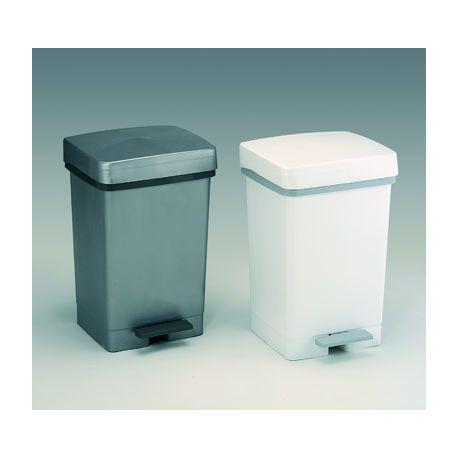 Cubo basura plástico 28 litros. Tapa y pedal 330x290x490 mm