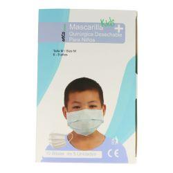 Mascarillas quirúrgicas infantiles polipropileno 3 capas tipo IIR. Caja 50 unidades