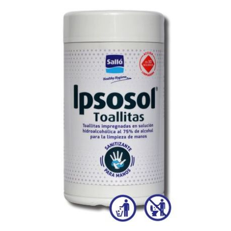 Toallitas hidroalcohólicas antisépticas Ipsosol. Caja 8x80 unidades