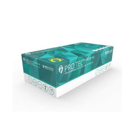 Guants examen nitril verd alta protecció talla L (8-9). Capsa 100 unitats