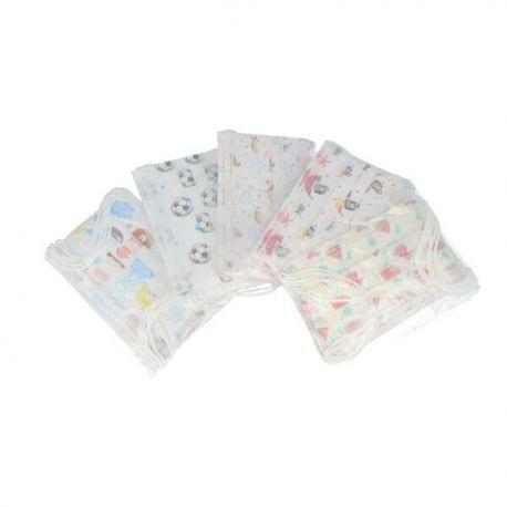 Mascarillas infantiles desechables polipropileno 3 capas. Caja 10X50 unidades