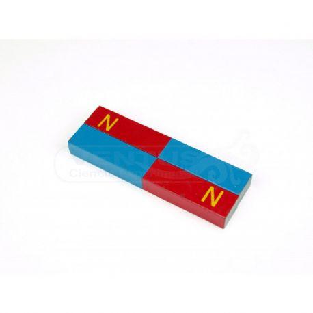 Imants alnico rectangular blau i vermell 75x12x8 mm. Pot 2 unitats