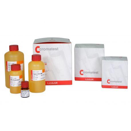 Reactivo clínico creatinina L-1123005. Caja 2x50 ml