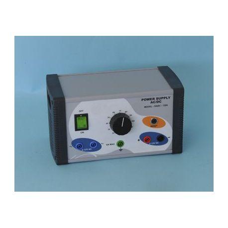 Fuente alimentación QLN-001. Analógica 1-12 Vcc/6A i Vca/6A
