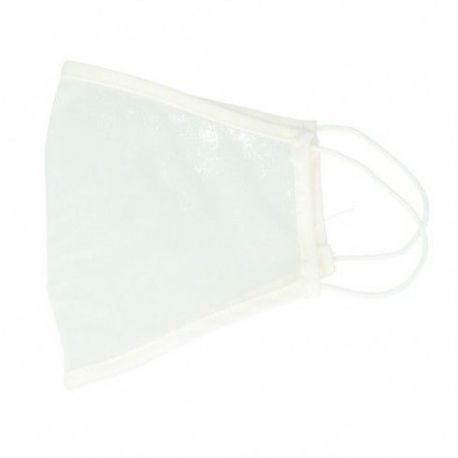 Mascaretes transparents tela reutilitzable color blanc. Paquet 10 unitats