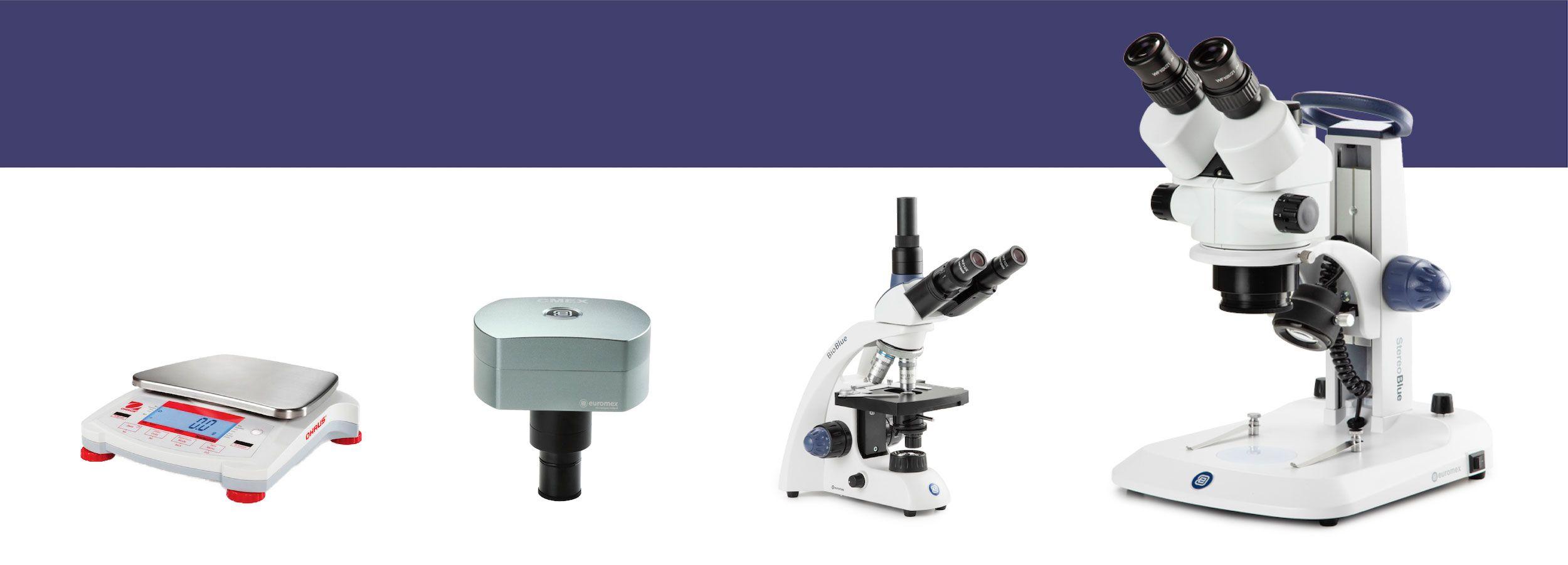 Microscopios y balanzas
